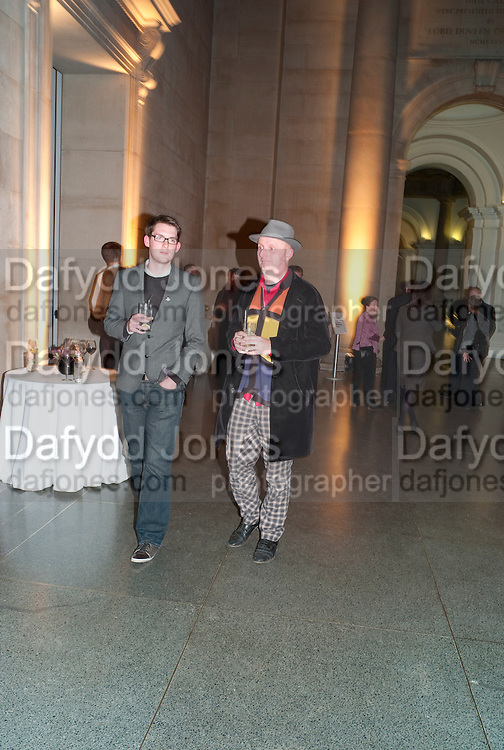 NEIL LEBETER; BOB AND ROBERTA SMITH, Archive 40 Reception. 40th Anniversary of the Tate archive. Tate Britain. Millbank. London. 25 October 2010. -DO NOT ARCHIVE-© Copyright Photograph by Dafydd Jones. 248 Clapham Rd. London SW9 0PZ. Tel 0207 820 0771. www.dafjones.com.