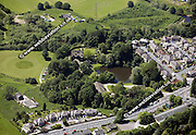 aerial photograph of East Riddlesden Hall  Bradford  Yorkshire  England UK