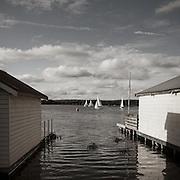 Lake Wendouree boat sheds