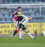 Dundee&rsquo;s Daniel Higgins out-muscles Inverness&rsquo; Henri Anier - Dundee v Inverness Caledonian Thistle in the Ladbrokes Scottish Premiership at Dens Park, Dundee, Photo: David Young<br /> <br />  - &copy; David Young - www.davidyoungphoto.co.uk - email: davidyoungphoto@gmail.com
