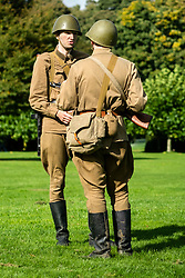 Rufford Abbey 1940's Weekend<br /> Soviet 13th Guards Rifle Division<br /> <br />  30 September 2017 <br />   Copyright Paul David Drabble<br />   www.pauldaviddrabble.co.uk