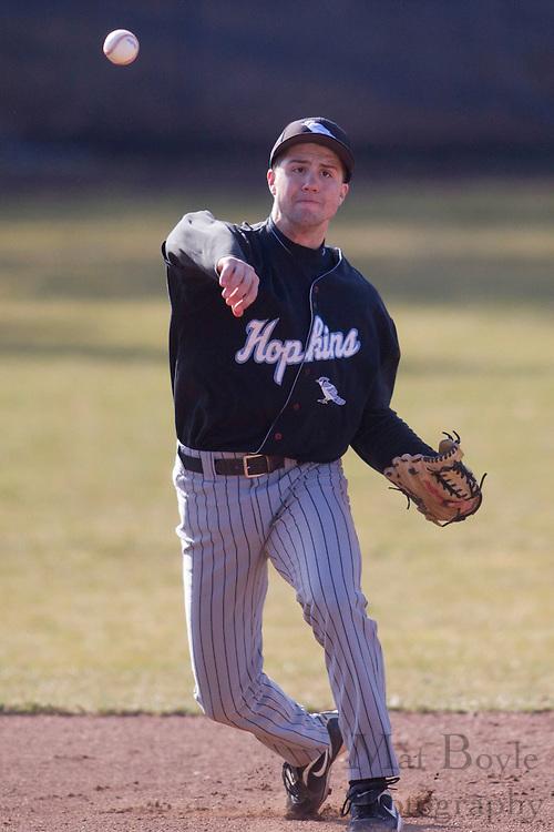 Rowan University Baseball hosts John Hopkins University  on Tuesday March 6, 2012 in Glassboro, NJ. (photo / Mat Boyle)