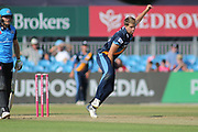 Matthew Critchley of Derbyshire Falcons during the Natwest T20 Blast North Group match between Derbyshire County Cricket Club and Worcestershire County Cricket Club at the 3aaa County Ground, Derby, United Kingdom on 8 July 2018. Picture by Mick Haynes.