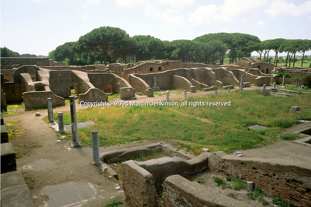 Ruins in the City of Ostia, Rome's ancient harbour....., Travel, lifestyle