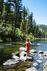 John Day River Fly Fishing Photos - Stock images