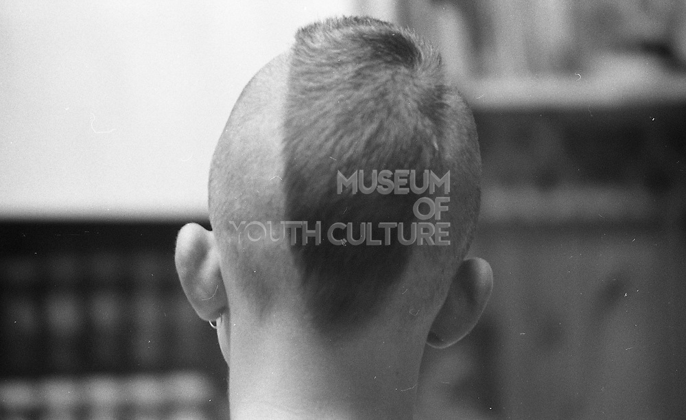 Neville's mohican, UK, 1980s.