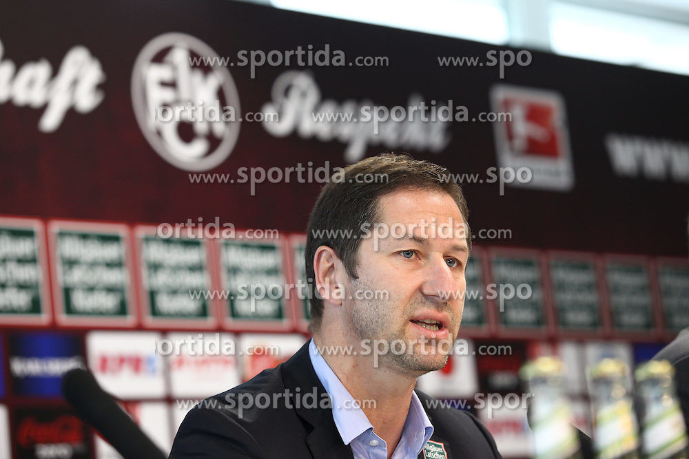 23.05.2012, Fritz Walter Stadion, Kaiserslautern, GER, 2. FBL, Pressekonferenz 1. FC Kaiserslautern, im Bild Franco FODA (Trainer/ 1.FC Kaiserslautern) // during Pressconference of the German second Bundesliga Club 1. FC Kaiserslautern, Fritz Walter Stadium, Kaiserslautern, Germany on 2012/05/23. EXPA Pictures © 2012, PhotoCredit: EXPA/ Eibner/ Alexander Neis..***** ATTENTION - OUT OF GER *****