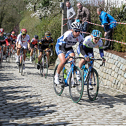 OUDENAARDE (BEL) cycling<br /> The 3th race in the UCI womens World Cup is the 12th edition of the Ronde van Vlaanderen. The race distance is 145 km with 12 Climbs and 5 zones of Cobbles.<br /> Annemiek van Vleuten was active during the race.