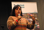 'Take Back Our World' Conference.<br /> Launch of the 'Global Justice Now' group, formally the 'World Development Movement'.<br /> Closing plenary: &quot;Take Back our World!'<br /> Luciana Ghiotto, a member of 'Attac Argentina' and the 'Hemispheric Social Alliance'.
