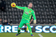 Allan McGregor (Hull City) throws the ball out during the Sky Bet Championship match between Hull City and Sheffield Wednesday at the KC Stadium, Kingston upon Hull, England on 26 February 2016. Photo by Mark P Doherty.