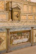 Altar at the Socorro Mission La Purisima  on the Mission Trail in El Paso, Texas.
