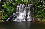 The Chase River Falls in Colliery Dam Park in Nanaimo, British Columbia, Canada
