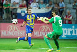 Jaka Stromajer #30 of Luka Koper vs Lovre Kalincic of Hajduk during First Leg football match between FC Luka Koper and HNK Hajduk Split (CRO) in Second qualifying round of UEFA Europa League, on July 16, 2015 in Stadium Bonifika, Koper, Slovenia. Photo by Vid Ponikvar / Sportida