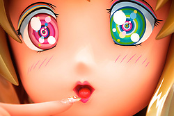 © licensed to London News Pictures. 27/06/2011. London, UK. Exhibition of recent work by renowned Japanese  artist Takashi Murakami at Gagosian Gallery, London. Pictured: 3m girl, 2011. Please see special instructions for usage rates. Photo credit should read: Tim Roberts/LNP