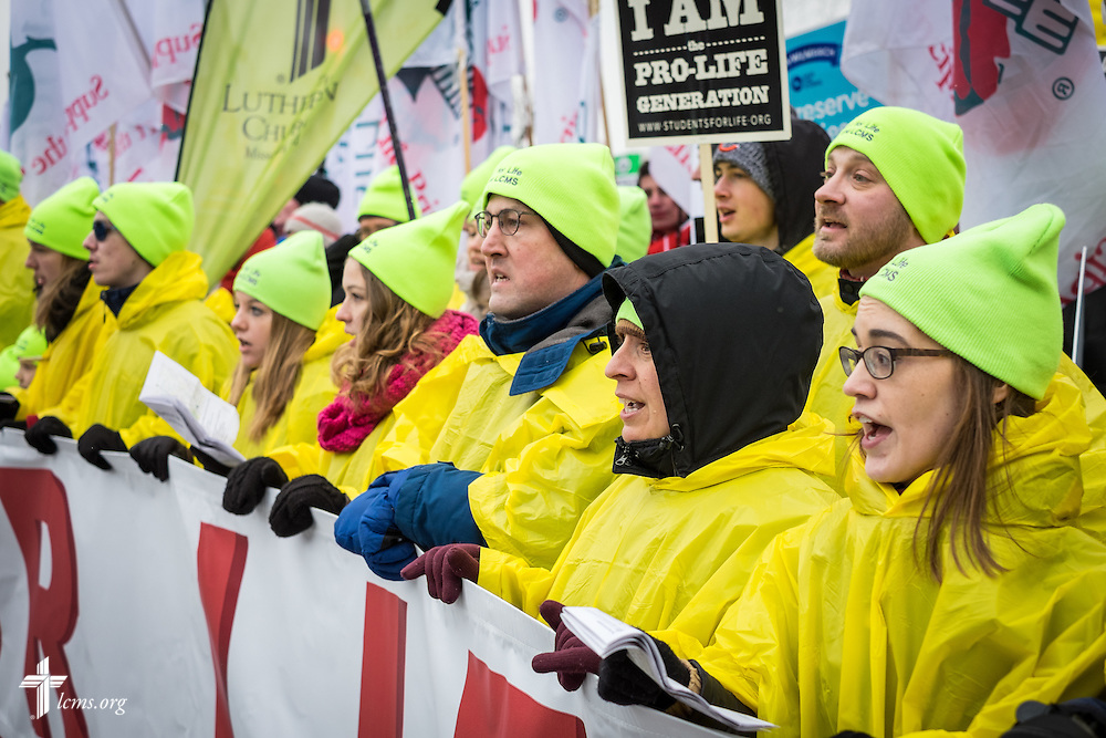 Lutherans lead the 2016 March for Life on Friday, Jan. 22, 2016, in Washington, D.C. Michael Schuermann for LCMS Communications