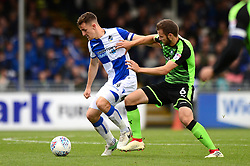 Tom Lockyer of Bristol Rovers is closed down by JamieNess of Plymouth Argyle - Mandatory by-line: Dougie Allward/JMP - 30/09/2017 - FOOTBALL - Memorial Stadium - Bristol, England - Bristol Rovers v Plymouth Argyle - Sky Bet League One