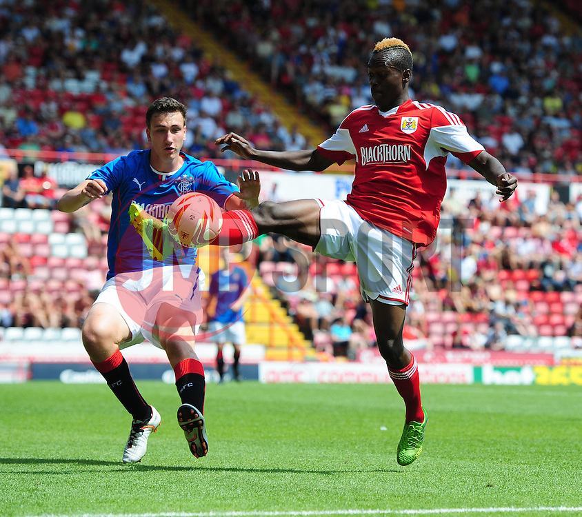 Bristol City's Toby Ajala - Photo mandatory by-line: Joe Meredith/JMP - Tel: Mobile: 07966 386802 13/07/2013 - SPORT - FOOTBALL - Bristol -  Bristol City v Glasgow Rangers - Pre Season Friendly - Bristol - Ashton Gate Stadium