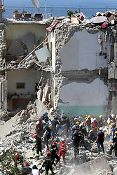 Torre Annunziata, a 4-storey palace collapses, seven dispersed, including two children. 07 Jul 2017 Pictured: Torre Annunziata, a 4-storey palace collapses, seven dispersed, including two children. Photo credit: Fotogramma / MEGA TheMegaAgency.com +1 888 505 6342