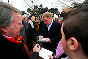 Former Bournemouth manager Harry Redknapp signing autographs for fans outside the Vitality Stadium before the The FA Cup match between Bournemouth and Everton at the Goldsands Stadium, Bournemouth, England on 20 February 2016. Photo by Graham Hunt.