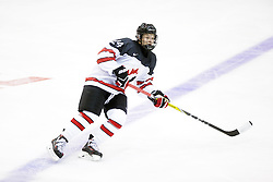 Elijah Brown (Seattle Thunderbirds) seen representing Team Canada White at the 2016 World Under-17 Challenge in Sault Ste. Marie, Ont. Photo by Kenneth Armstrong for CHL Images