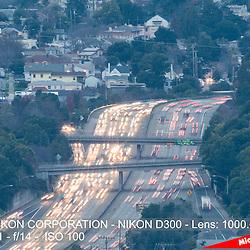 Oakland, Highway 580 at Dusk