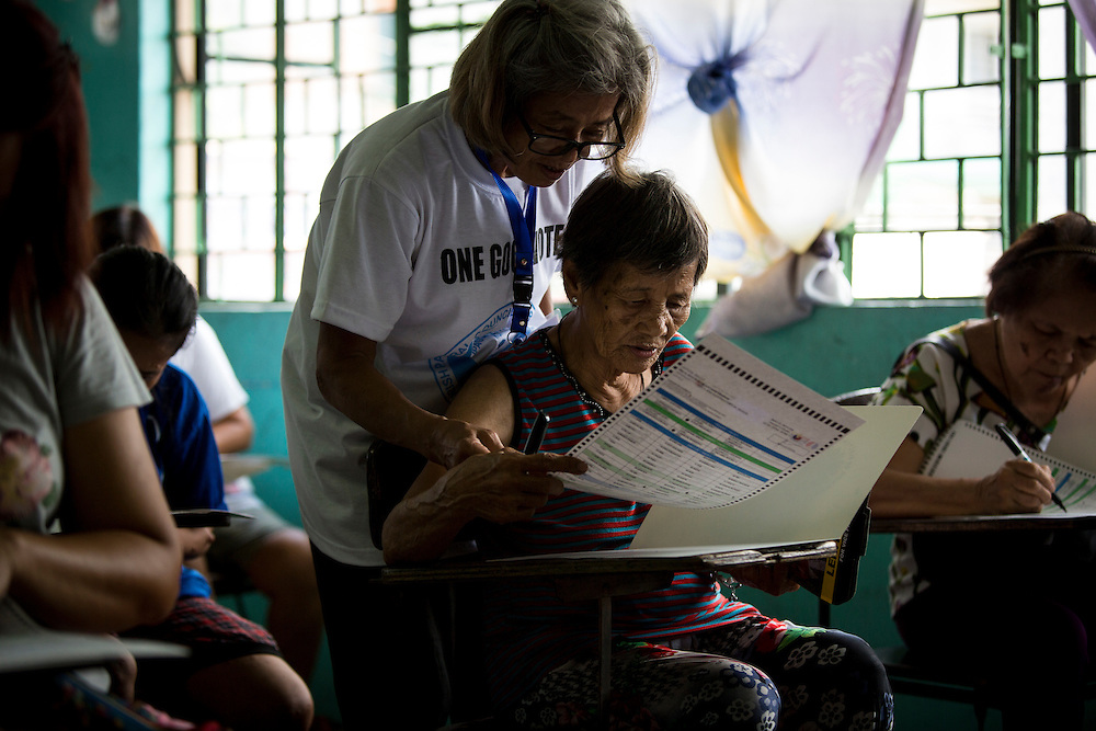 MANILA, PHILIPPINES - MAY 9: <br /> <br /> <br /> queues to vote during Philippines national elections in on May 9, 2016.<br /> <br /> Photo by Richard A. de Guzman