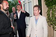 EVGENY LEBEDEV; KENTON ALLAN; TOM HOLLANDER, Imogen Edwards-Jones - book launch party for ' Hospital Confidential' Mandarin Oriental Hyde Park, 66 Knightsbridge, London, 11 May 2011. <br />  <br /> -DO NOT ARCHIVE-© Copyright Photograph by Dafydd Jones. 248 Clapham Rd. London SW9 0PZ. Tel 0207 820 0771. www.dafjones.com.