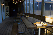 Covered porch seating at the Lot in east Dallas on Thursday, April 18, 2013. (Cooper Neill/The Dallas Morning News)