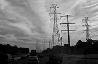 Clouds and Power Lines Along the Northeast Corridor. Image taken with a Leica X2 camera (ISO 100, 24 mm f/7, 1/1250 sec). In camera B&W.