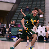 1st year guard Brayden Kuski (15) of the Regina Cougars during the Men's Basketball home game on January 6 at Centre for Kinesiology, Health and Sport. Credit: Arthur Ward/Arthur Images