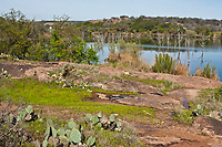 The east shore of Inks Lake.  Inks Lake State Park, Texas.