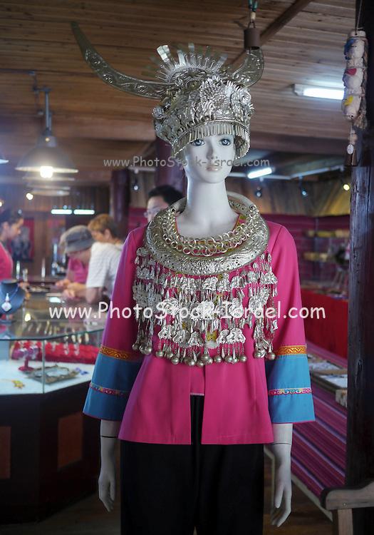 China, Guangxi Province, Guilin, manikin with traditional dress