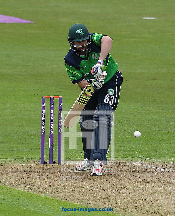 Andrew Balbirnie of Ireland during the One Day International match at the Village, Malahide<br /> Picture by Lorraine O'Sullivan/Focus Images Ltd +353 872341584<br /> 08/05/2015