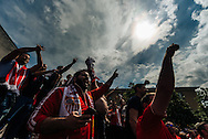 Liverpool fans in party mood in Basel city centre ahead of the UEFA Europa League Final against Sevilla.<br /> Picture by EXPA Pictures/Focus Images Ltd 07814482222<br /> 18/05/2016<br /> ***UK &amp; IRELAND ONLY***<br /> EXPA-FEI-160518-0040.JPG