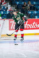 KAMLOOPS, CANADA - NOVEMBER 5: Riley Sutter #14 of Team WHL (Everett Silvertips) warms up against the Team Russia  on November 5, 2018 at Sandman Centre in Kamloops, British Columbia, Canada.  (Photo by Marissa Baecker/Shoot the Breeze)