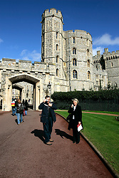 UK ENGLAND BERKSHIRE WINDSOR 2APR06 - Detail view of the fortifications at Windsor Castle, residence of HM The Queen Elizabeth II. Windsor Castle is an official residence of The Queen and the largest occupied castle in the world. A Royal home and fortress for over 900 years, the Castle remains a working palace today...jre/Photo by Jiri Rezac..© Jiri Rezac 2006..Contact: +44 (0) 7050 110 417.Mobile:  +44 (0) 7801 337 683.Office:  +44 (0) 20 8968 9635..Email:   jiri@jirirezac.com.Web:    www.jirirezac.com..© All images Jiri Rezac 2006 - All rights reserved.