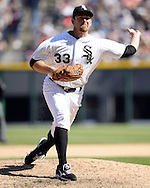 CHICAGO - APRIL 23:  Zach Duke #33 of the Chicago White Sox pitches against the Texas Rangers on April 23, 2016 at U.S. Cellular Field in Chicago, Illinois.  The White Sox defeated the Rangers 4-3 in 11 innings.  (Photo by Ron Vesely)   Subject: Zach Duke