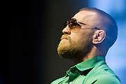 LAS VEGAS, NV - JULY 7:  Conor McGregor looks on during the UFC 202 press conference at T-Mobile Arena on July 7, 2016 in Las Vegas, Nevada. (Photo by Cooper Neill/Zuffa LLC/Zuffa LLC via Getty Images) *** Local Caption *** Conor McGregor