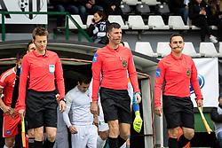 Players entering the pitch before football match between NŠ Mura and Rudar Velenje in 31st Round of Prva liga Telekom Slovenije 2018/19, on May 5, 2019 in Fazanerija, Murska Sobota, Slovenia. Photo by Blaž Weindorfer / Sportida