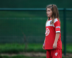 A young Bristol Academy fan - Photo mandatory by-line: Dougie Allward/JMP - Mobile: 07966 386802 - 20/09/2014 - SPORT - FOOTBALL - Bristol - SGS Wise Campus - BAWFC v Arsenal Ladies - FA Womens Super League