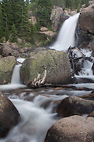 Alberta Falls in Glacier Gorge, Rocky Mountain National Park, Colorado.
