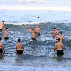 DURBAN, SOUTH AFRICA, 1,June, 2016 -   General views during The England Saxons team recovery session at the umhlanga beach Durban, South Africa. (Photo by Steve Haag) England Saxons<br /> <br /> Images for social media must have consent from Steve Haag