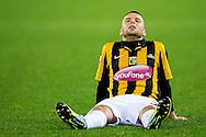 ARNHEM, Vitesse - PSV, voetbal Eredivisie, seizoen 2013-2014, 15-03-2014, Stadion de Gelredome, Vitesse speler Rochdi Achenteh is teleurgesteld na de nederlaag.