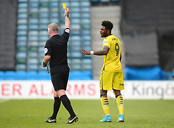 Ellis Harrison of Bristol Rovers is shown a yellow card for a foul on Max Ehmer of Gillingham - Mandatory by-line: Alex James/JMP - 14/04/2017 - FOOTBALL - MEMS Priestfield Stadium - Gillingham, England - Gillingham v Bristol Rovers - Sky Bet League One