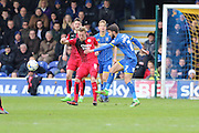 George Francomb midfielder for AFC Wimbledon (7) in action during the Sky Bet League 2 match between AFC Wimbledon and Crawley Town at the Cherry Red Records Stadium, Kingston, England on 16 April 2016. Photo by Stuart Butcher.