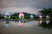 Mascots for The Garlic Festival in the city of Dajeong-ri.