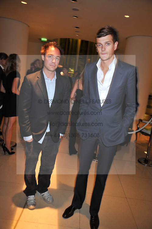 Left to right, DAN PHILIPSON and the HON.ALI SPENCER-CHURCHILL at the St.Martins Lane Hotel 10th year bash held on 9th September 2009.