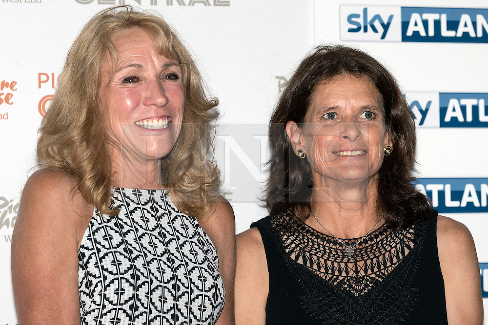 © Licensed to London News Pictures. 27/07/2016. Former track runners MARY DECKER and ZOLA BUDD attend the The Fall film screening at PictureHouse Central. Director DANIEL GORDON'S documentary charts the story of the controversial race between BUDD and DECKER at the 1884 Olympics. London, UK. Photo credit: Ray Tang/LNP