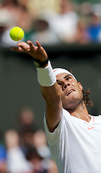 LONDON, ENGLAND - Tuesday, June 22, 2010: Rafael Nadal (ESP) during the Gentleman's Singles 1st Round match on day two of the Wimbledon Lawn Tennis Championships at the All England Lawn Tennis and Croquet Club. (Pic by David Rawcliffe/Propaganda)