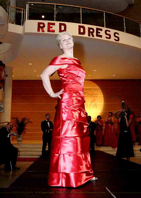 Cathie Trimborn walks the runway at the 2007 Wellness Connection Red Dress Gala, at the Schuster Performing Arts Center in Dayton, Saturday night, May 5th.
